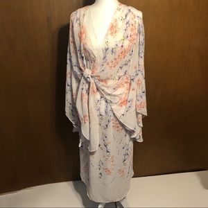 Floral Kimono Sleeved Robe With Nightie NWOT